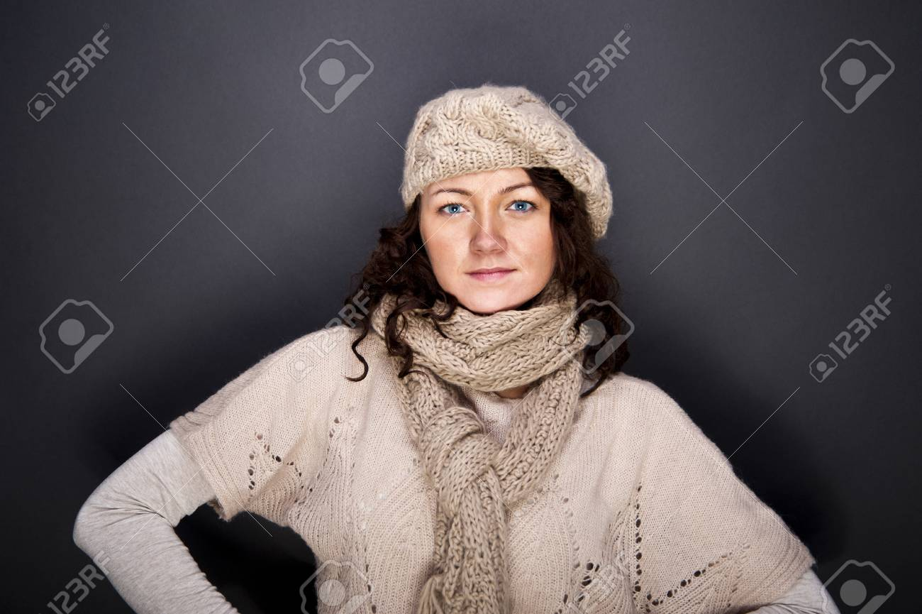 woman on the black background Stock Photo - 12206502