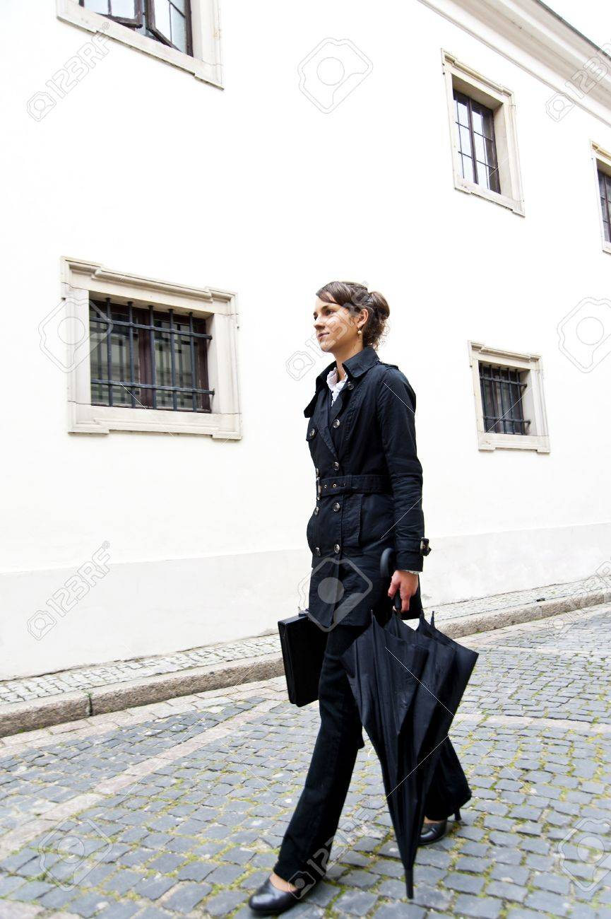 Woman walk to the work or job morning Stock Photo - 15228460