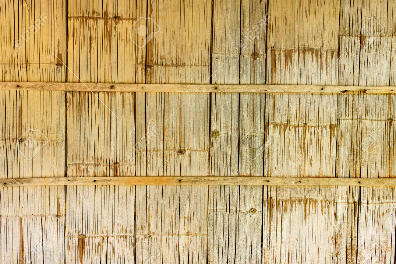Native Style Bamboo Wall In A Rustic Wooden House Or A Cottage ...