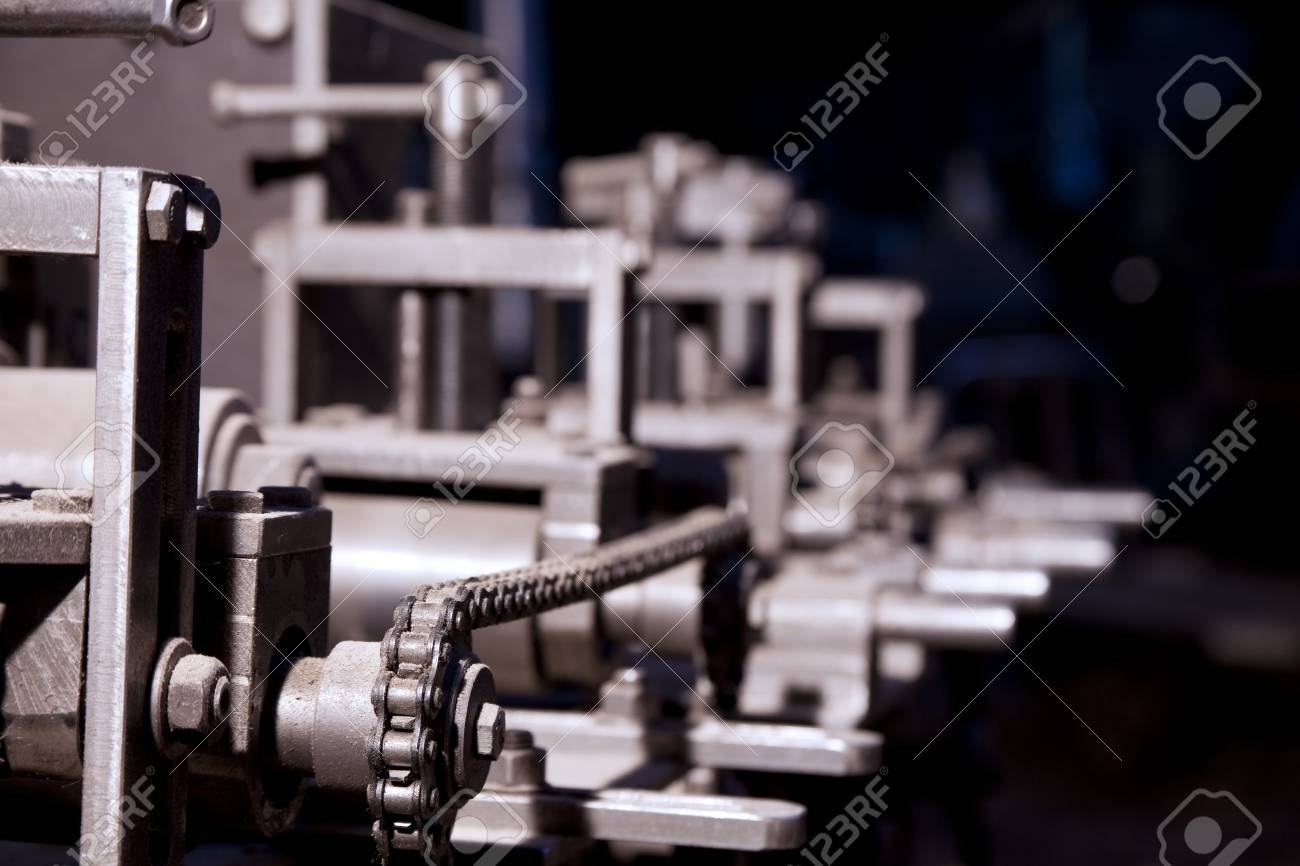 Focus on detail of complex machine in dirt and dust Stock Photo - 7630997