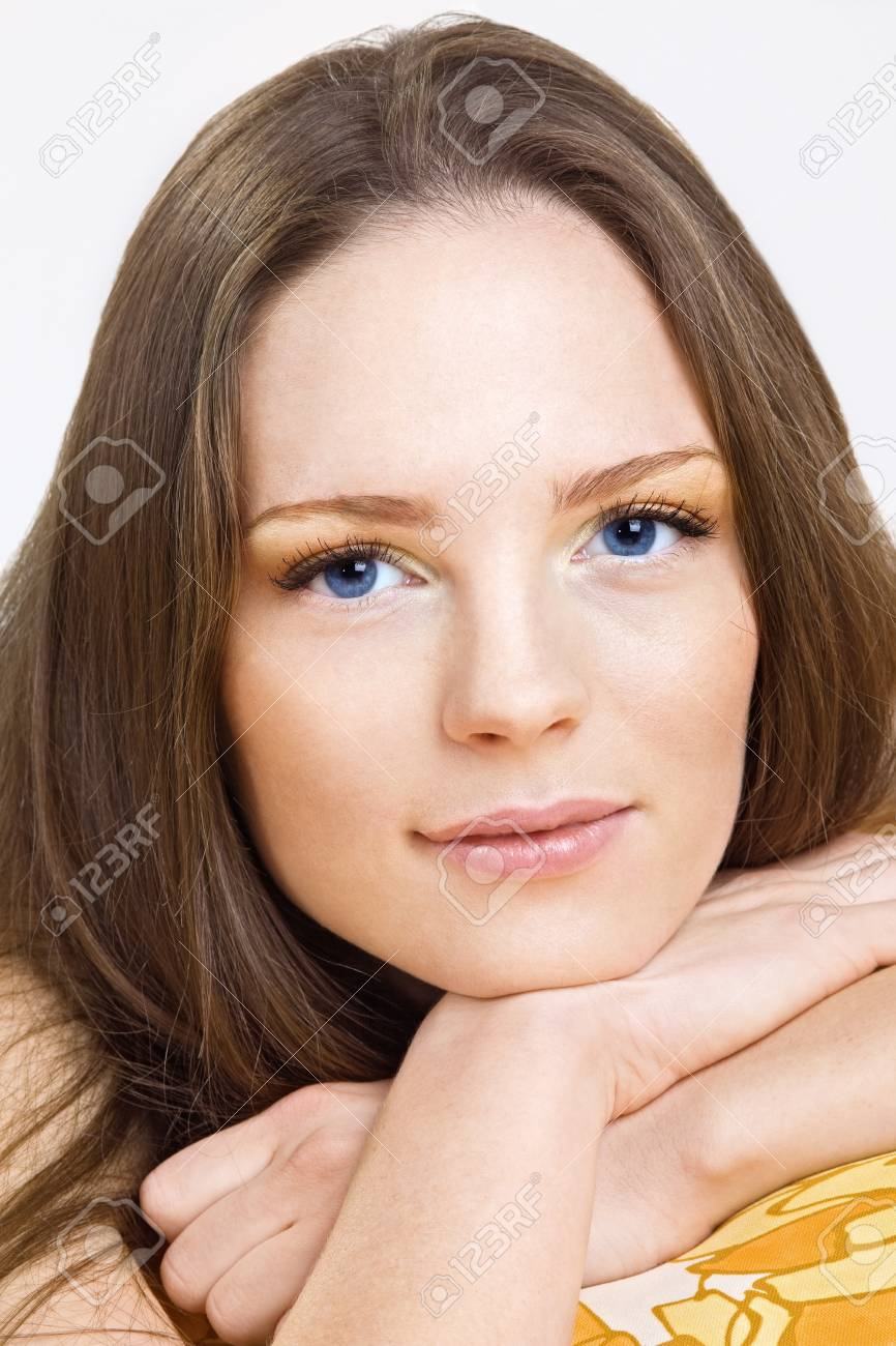 Beauty portrait of young woman look at you Stock Photo - 8533821