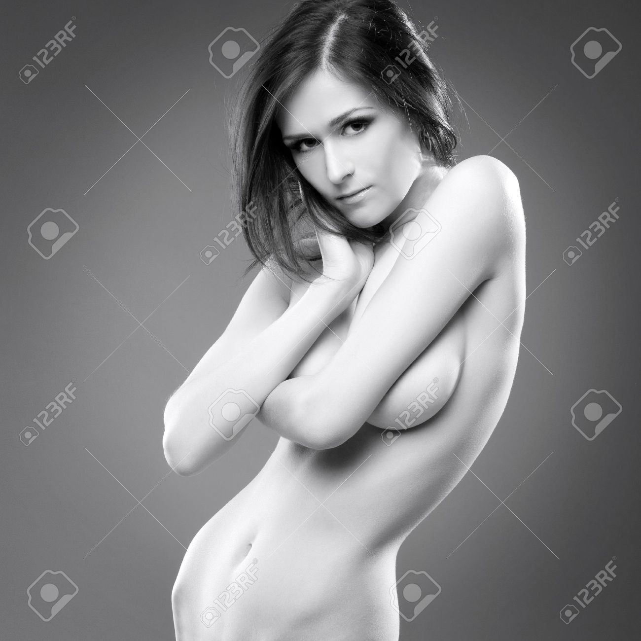 Black and white nude females