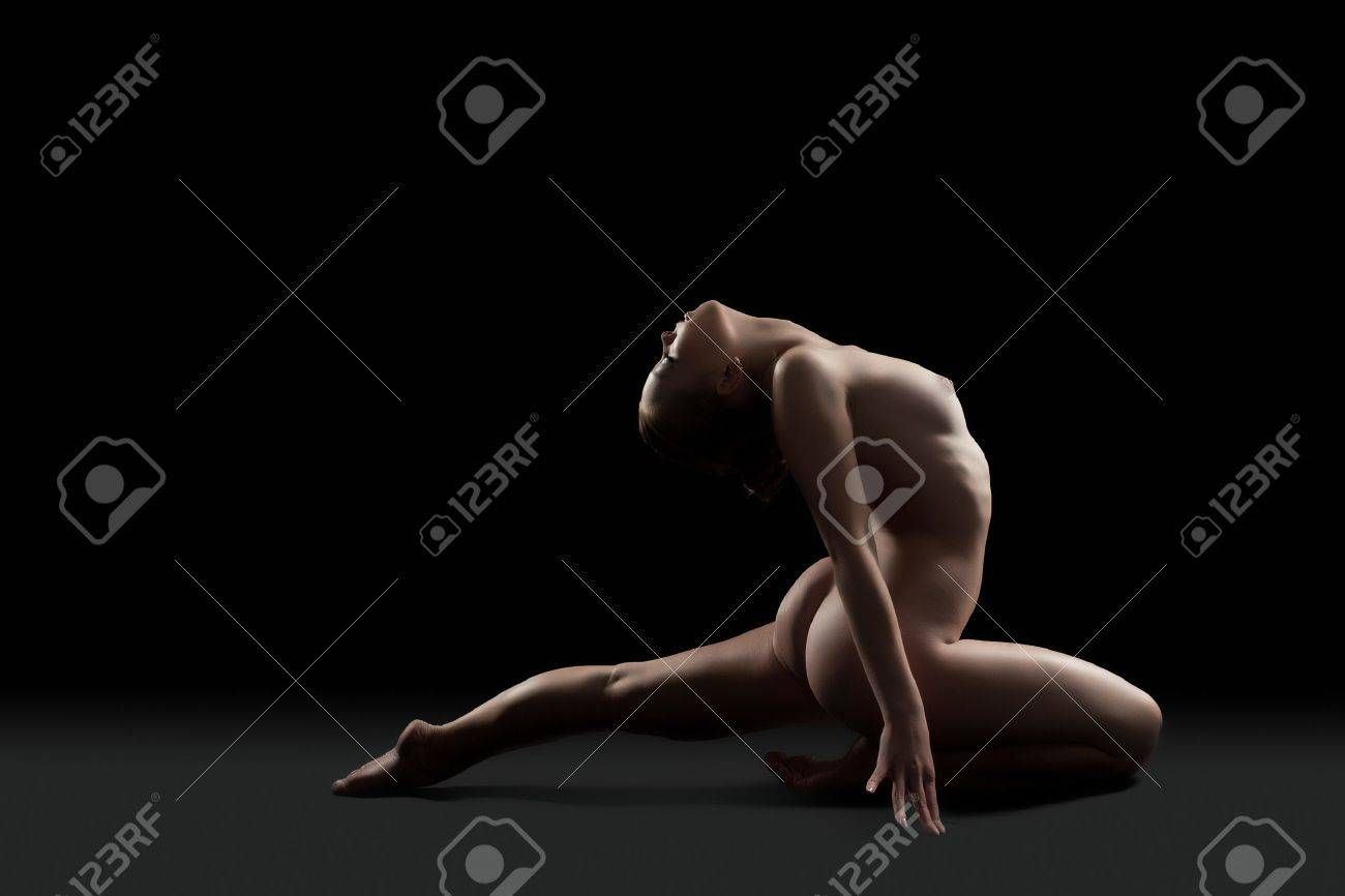 Gymnast Nude pertaining to full length portrait of sexy nude gymnast stock photo, picture and