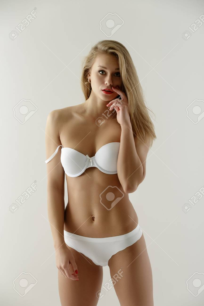 Sexy Underwear Model Posing In Amazement Looking At Camera Stock Photo Picture And Royalty Free Image Image 45953967