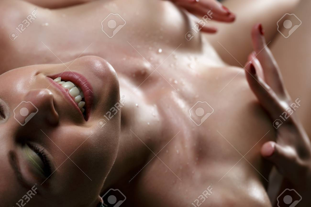 Close Up Face Of Smiling Woman After She Got Orgasm Stock Photo 51204339