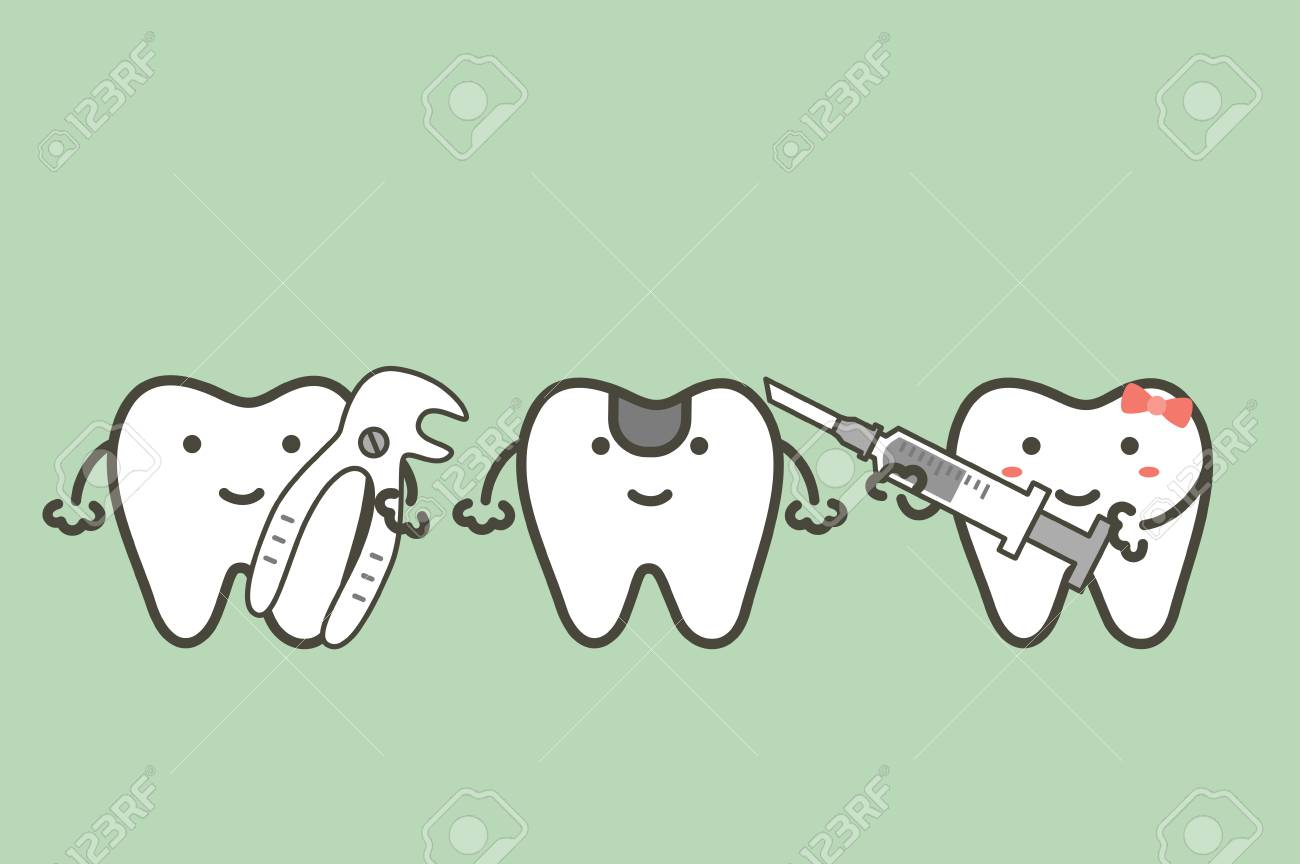 Dental Cartoon Illustration Of Tooth Extraction Royalty Free Cliparts Vectors And Stock Illustration Image 96347829