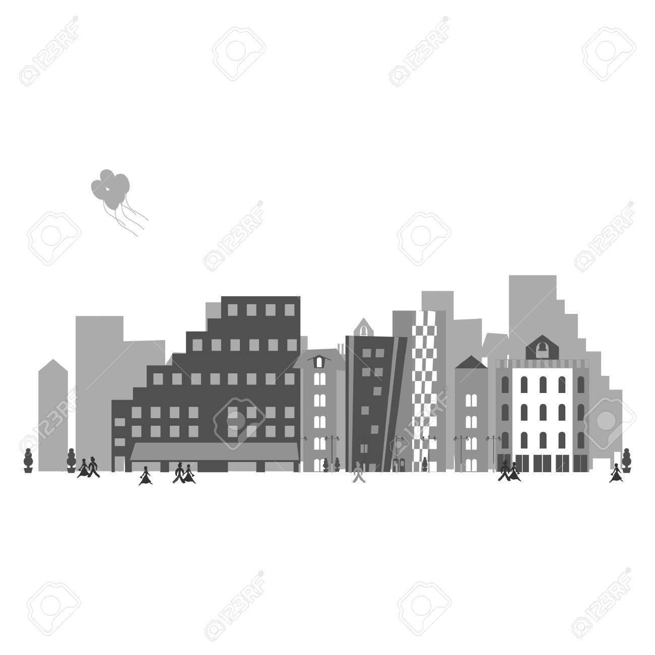 Town Stock Vector - 11838795