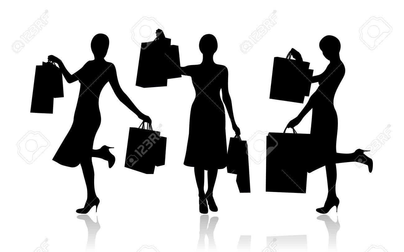 Woman with shopping bags Stock Vector - 4426022
