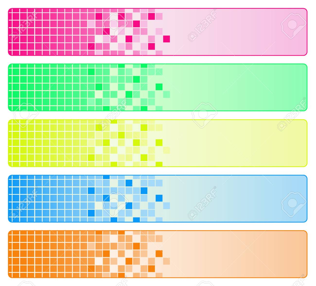 Five bright abstract banners Stock Vector - 4491963