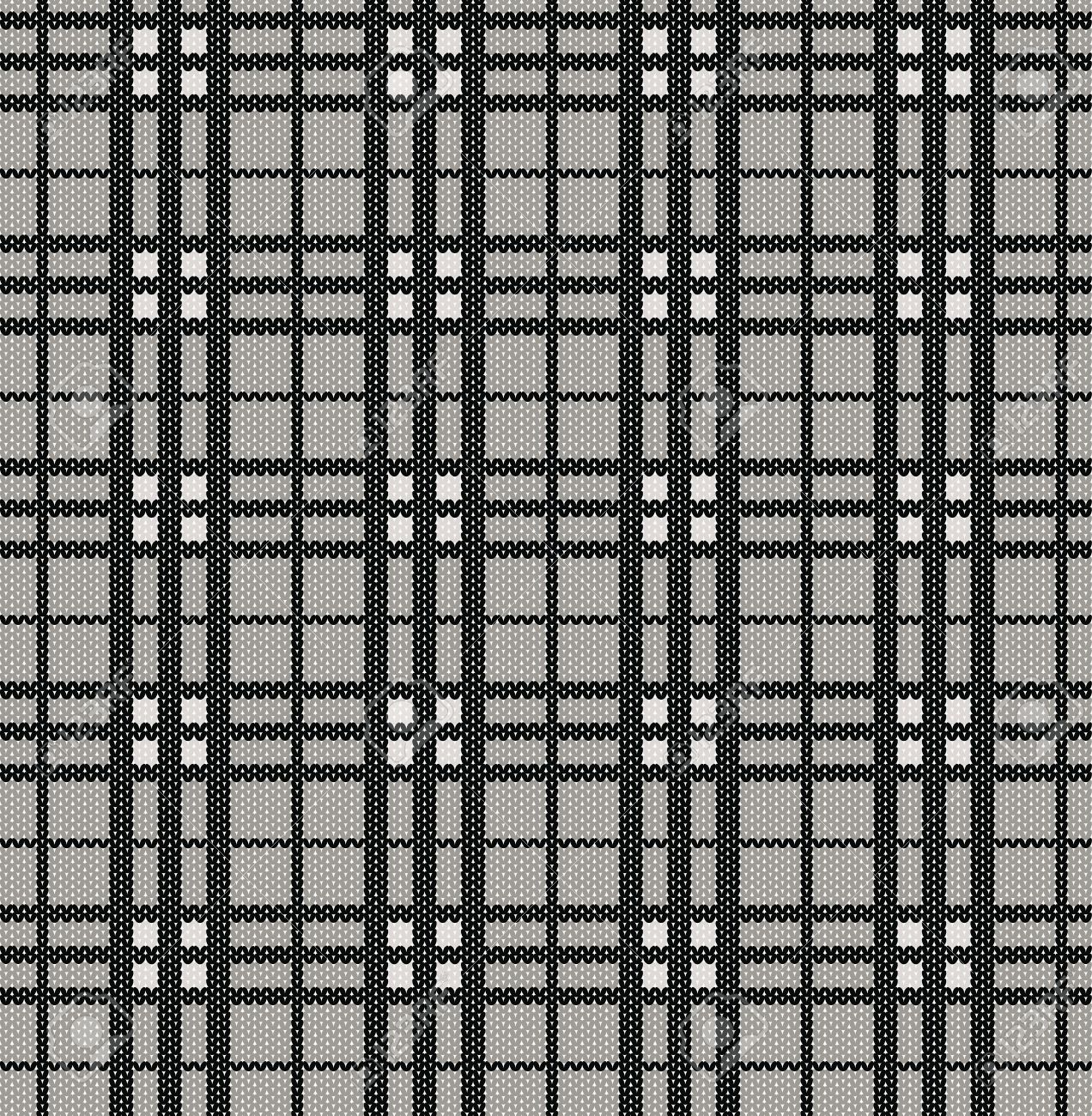 Patrón De La Tela Escocesa De La Textura De Punto Ilustraciones ...