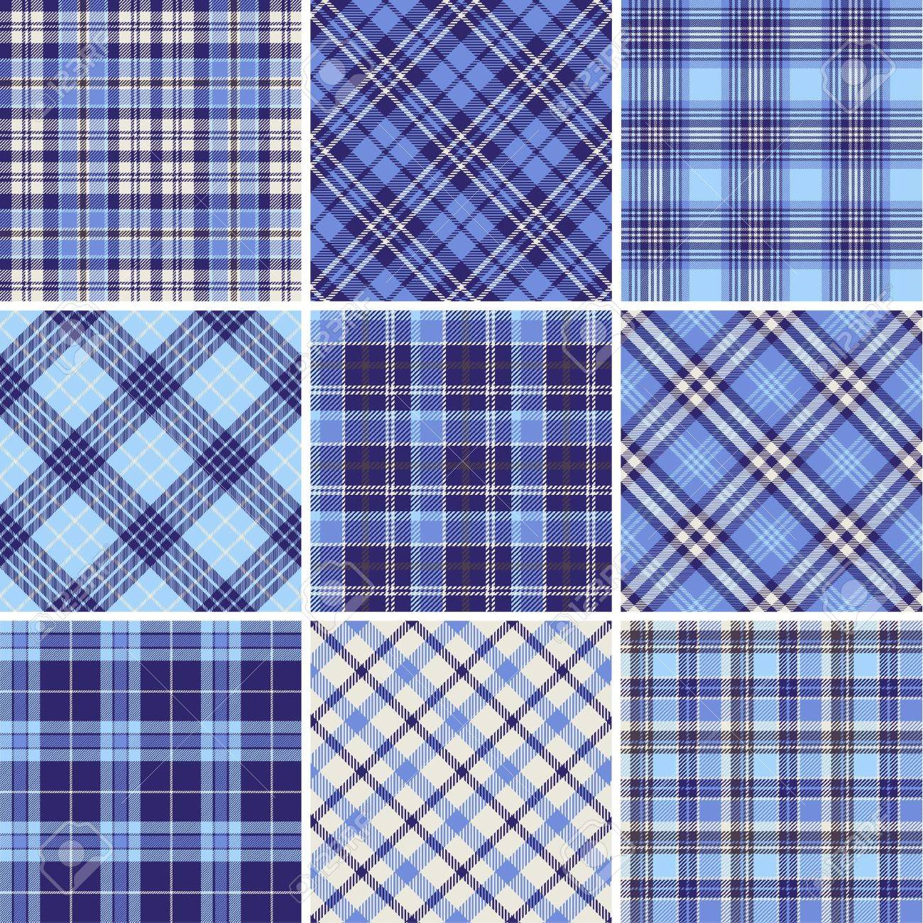 Tartan Pattern set of seamless tartan patterns royalty free cliparts, vectors