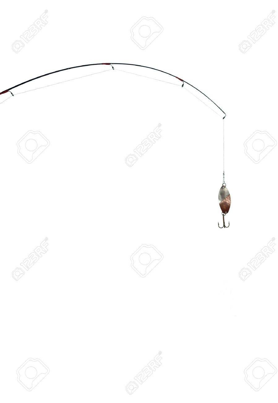 fishing-rod on a white background - 9121705