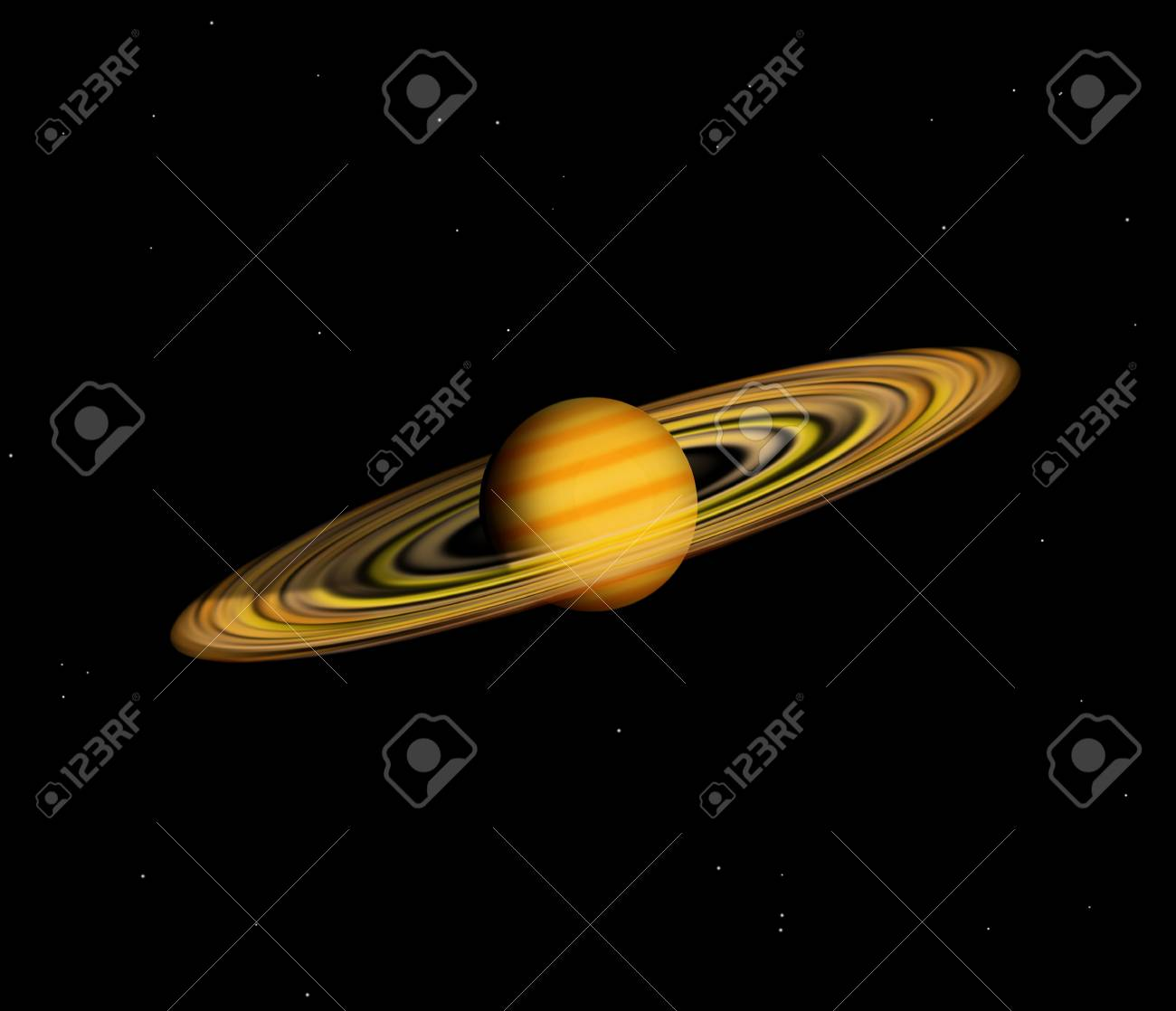 planet with rings on a speace background Stock Photo - 9169975