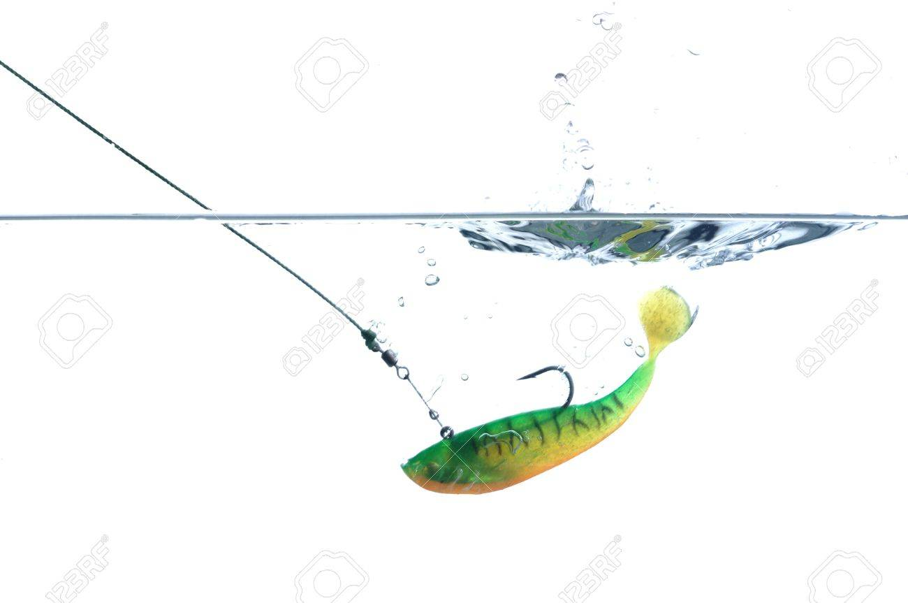 artificial angling falling to water bait - 10725525