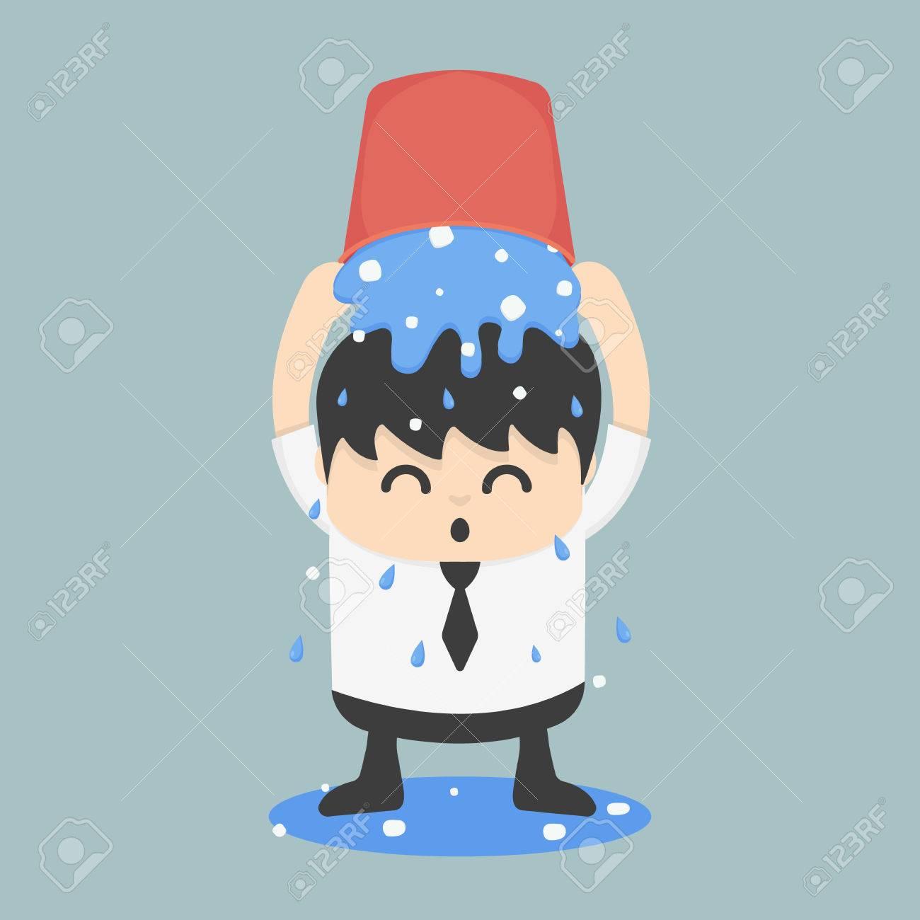 Ice Challenge seau d'affaires Banque d'images - 31121043