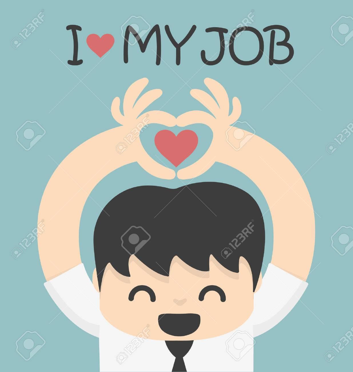 I love my job Banque d'images - 32057325