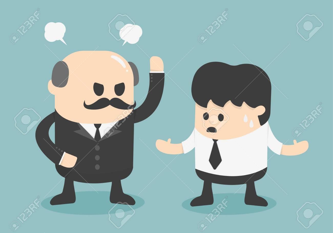 concept de patron en colère Banque d'images - 32793937