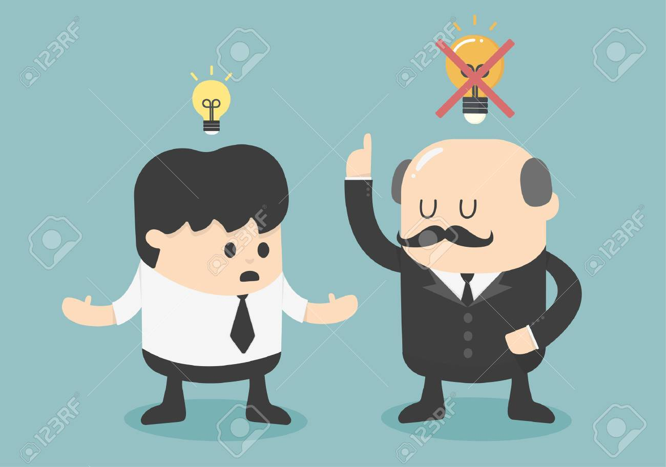 Boss dislike the ideas Banque d'images - 32793938