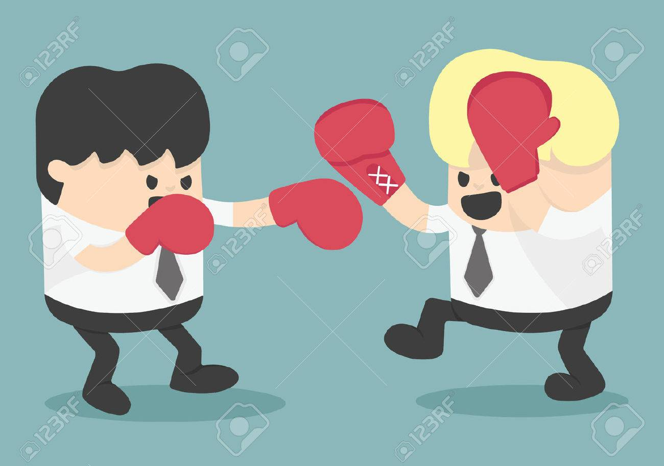 businessman fighting - 35057864