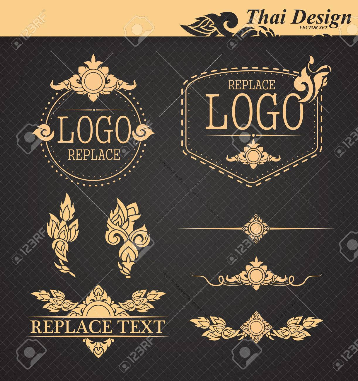 vector set: thai art design elements Banque d'images - 35511856