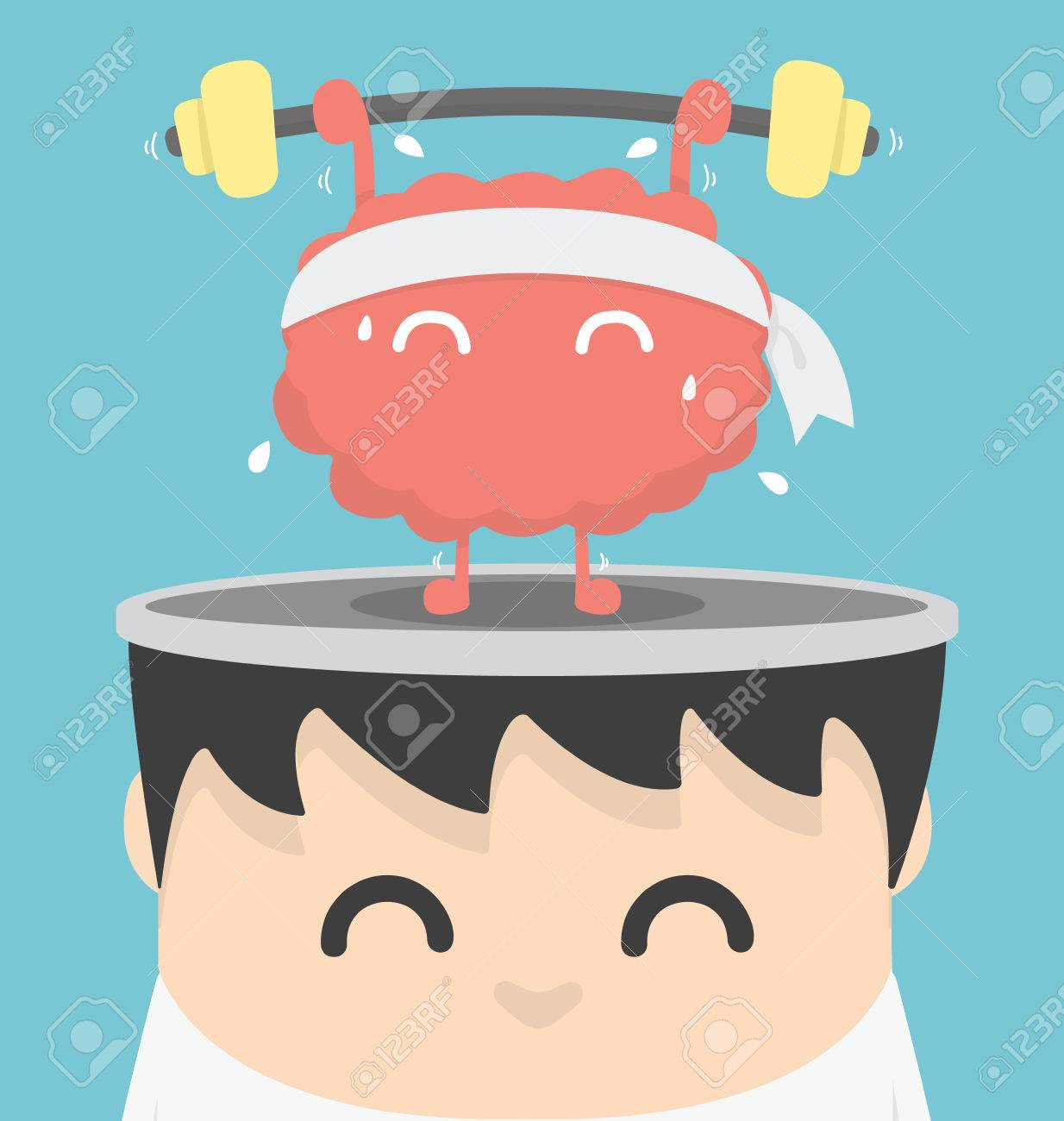 Homme d'affaires cerveau exercice Banque d'images - 38911162