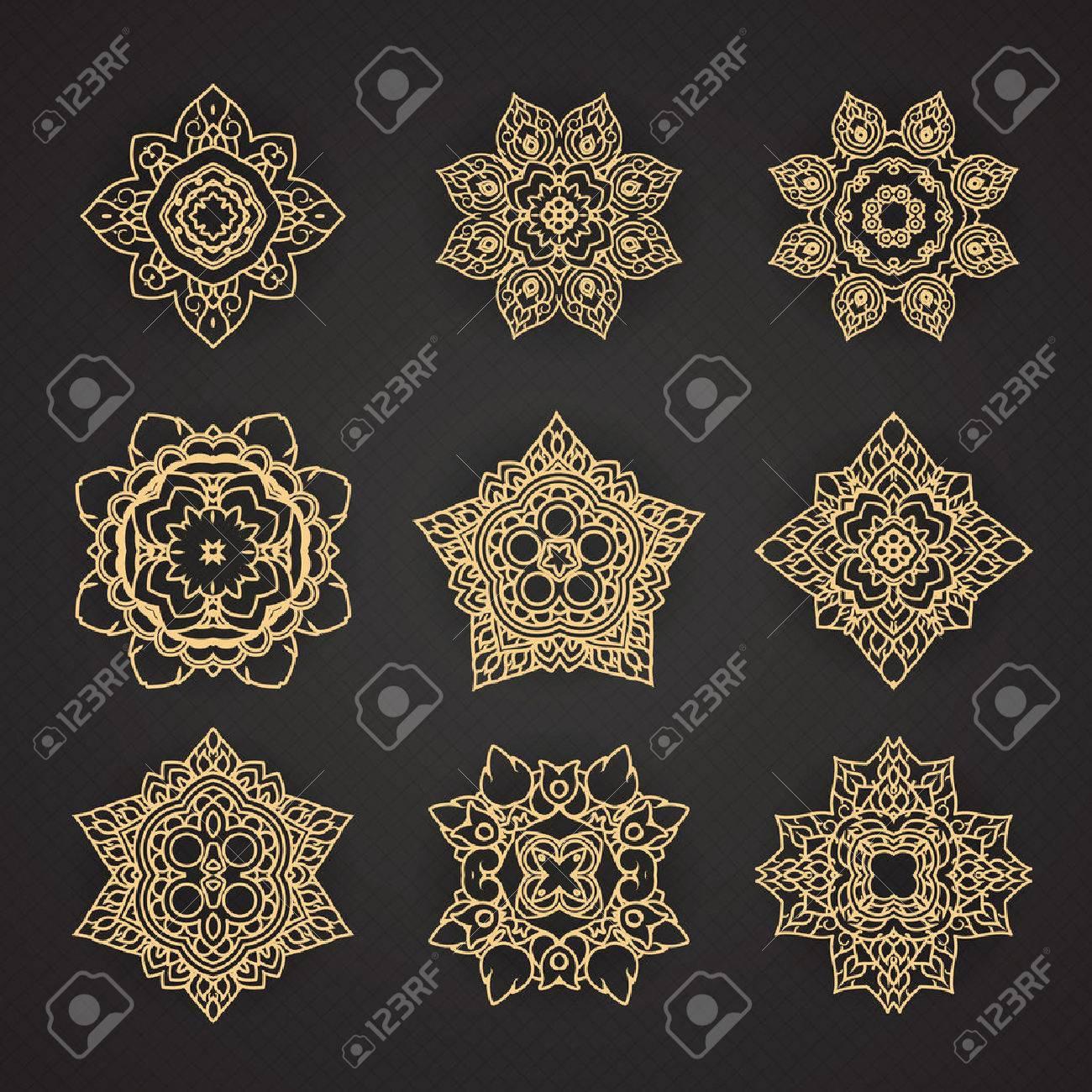 Motif de l'art thaï conception Vector set Banque d'images - 41668716