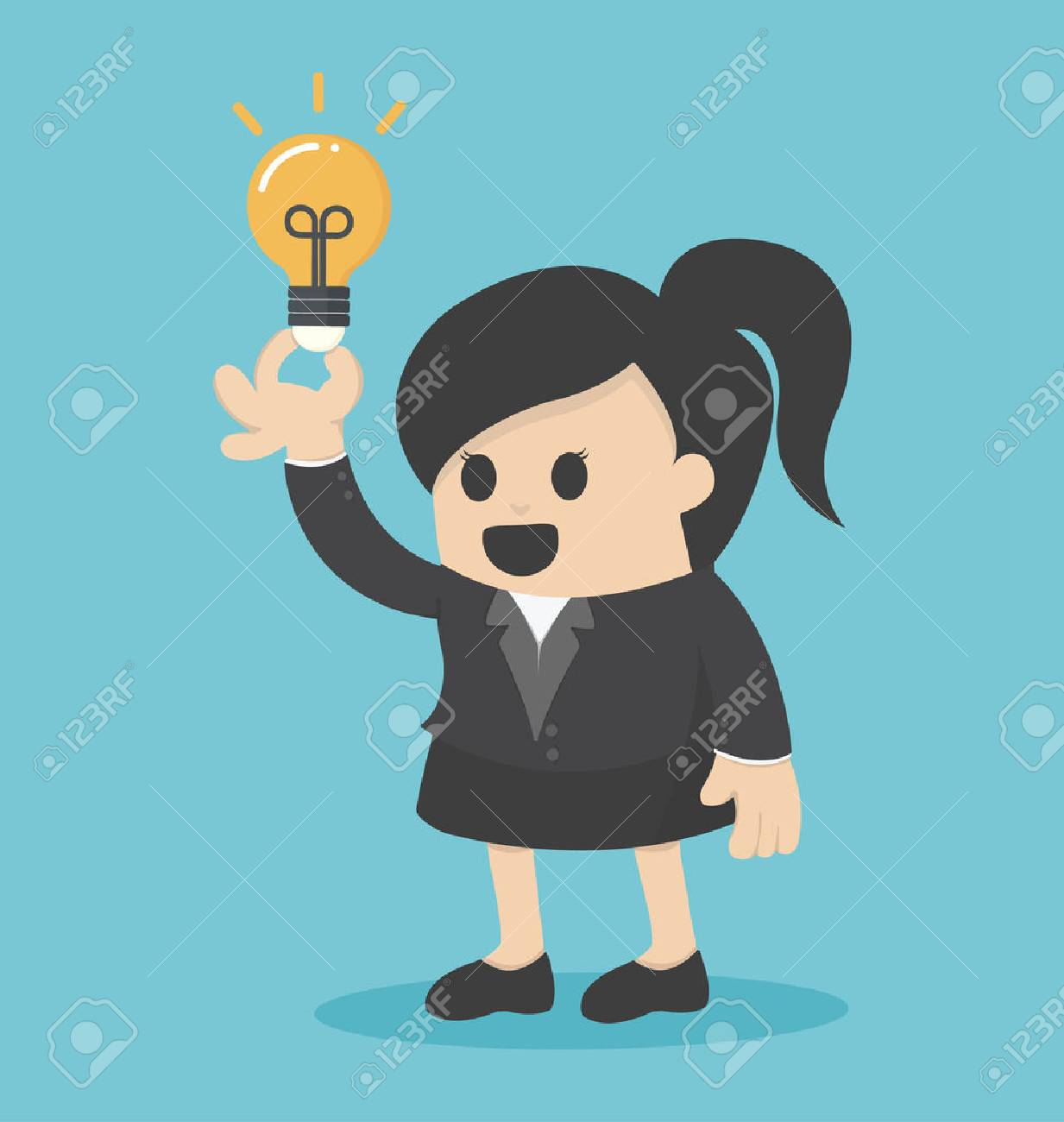 Femme d'affaires get idée Banque d'images - 43249738