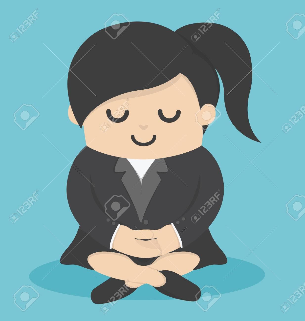 Femme d'affaires Calme méditer Banque d'images - 45114915