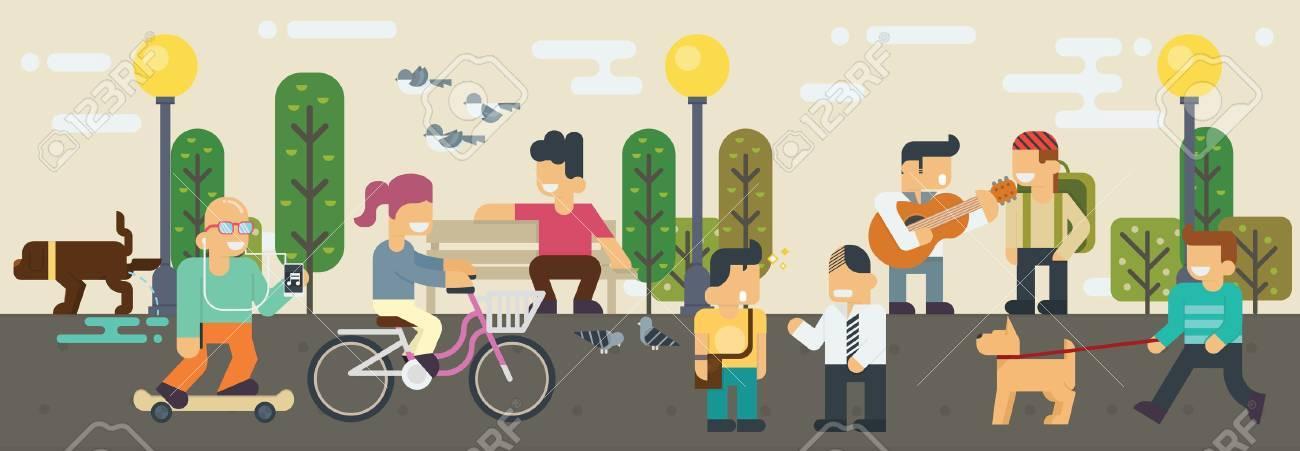 Lifestyle Free time  Elements illustration Banque d'images - 47010690