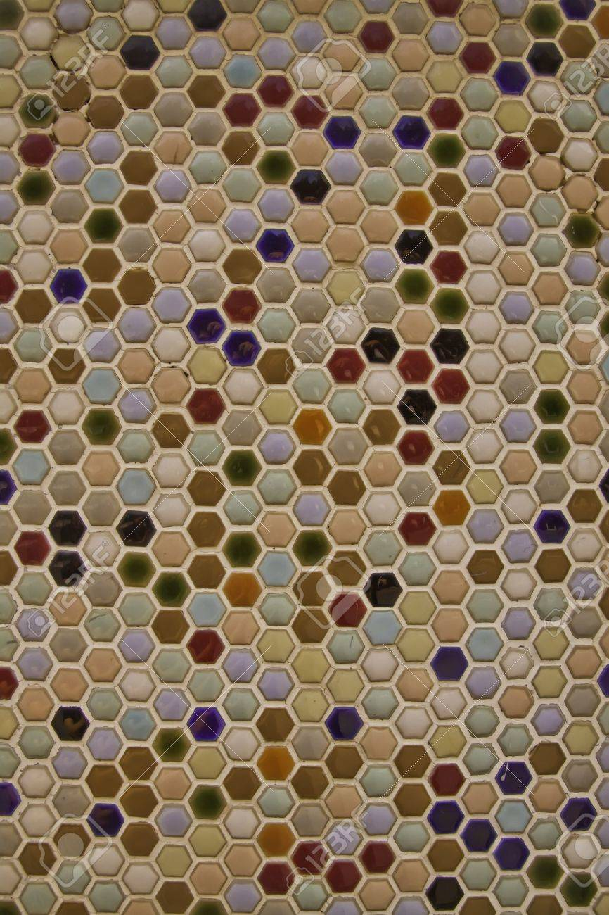 The mosaic tiles are the good texture for the background artwork, interior decoration and architectural design material. Stock Photo - 11193606