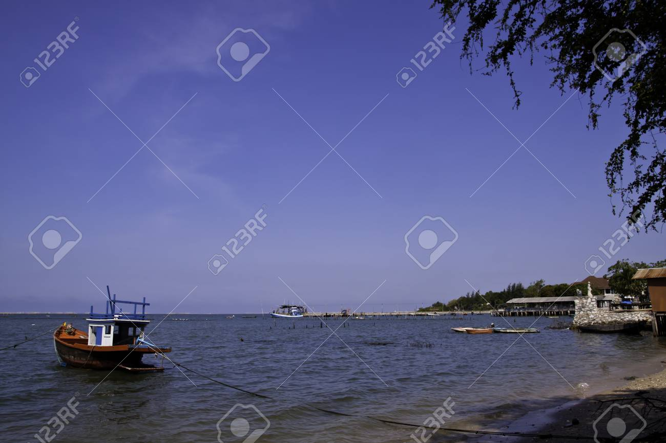 The fisherman's boat in the beautiful natural ocean landscape scenery Stock Photo - 13127874