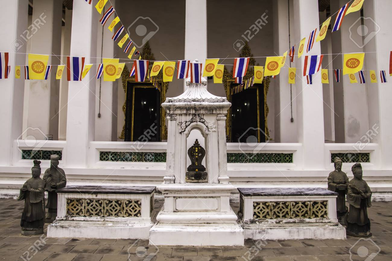 Thepthidaram Temple was built in 2379BE by KIng Rama III for the princess. Stock Photo - 13650701
