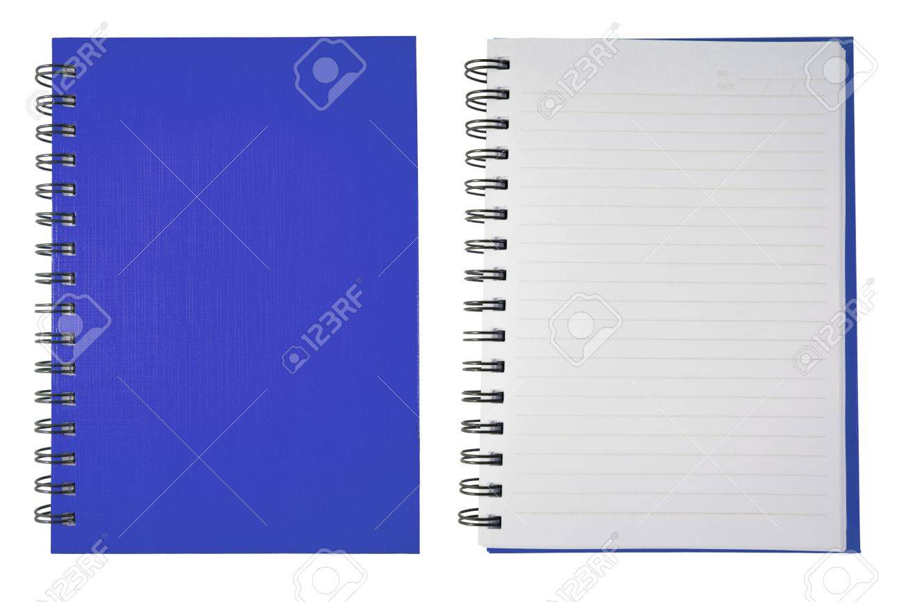 Blue Blank Note Book Stock Photo - 9578260