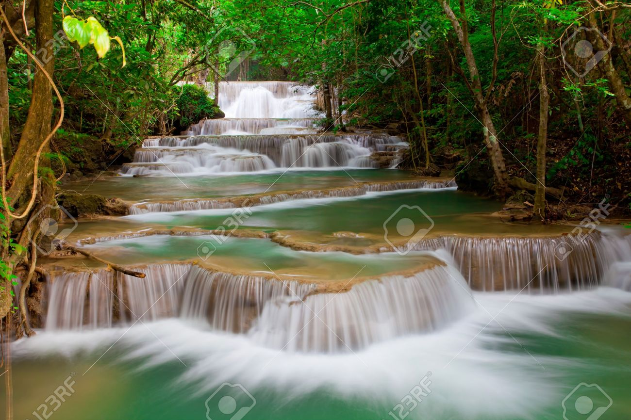 Deep forest Waterfall in Thailand Stock Photo - 10087398