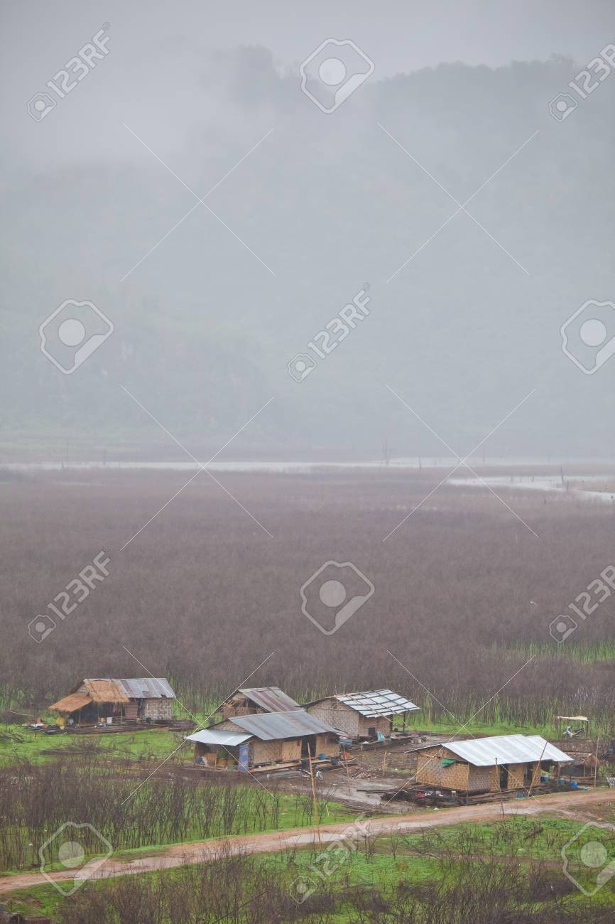 Village with green grass in the mountain Stock Photo - 13570338