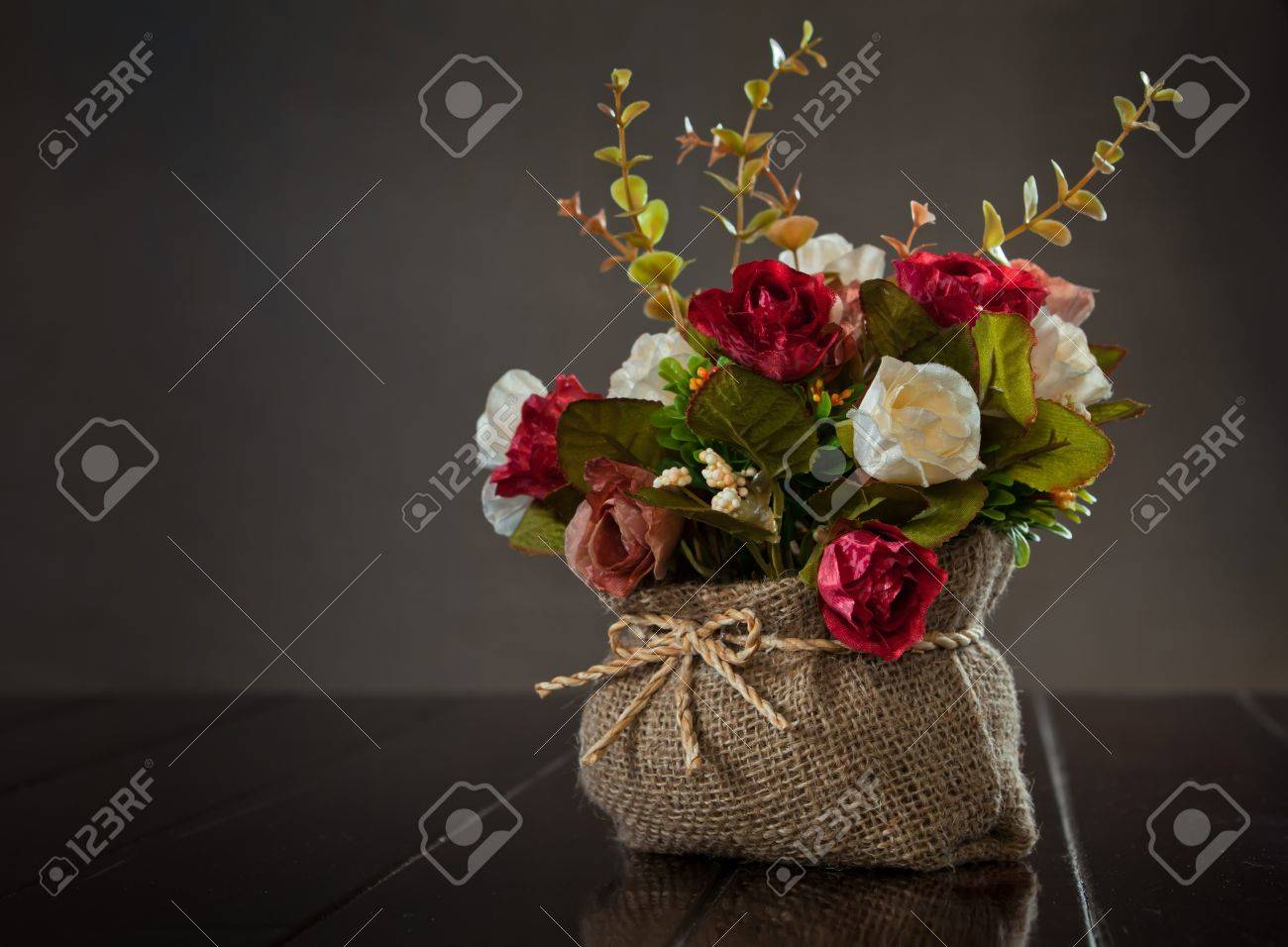 still life with rose flower on wall background Stock Photo - 14601768