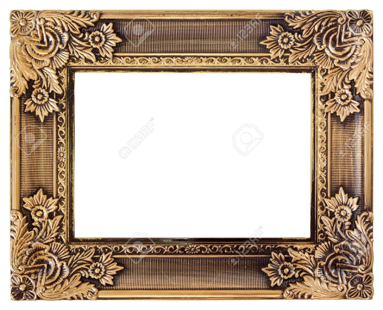 antique love gold frame isolated on white - 18684026