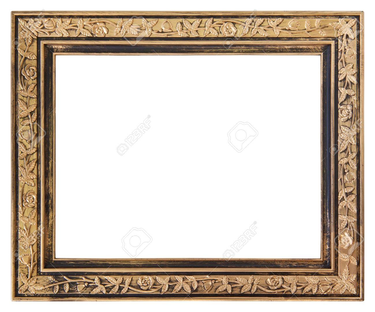 Gold frame isolated on white background Stock Photo - 19541265