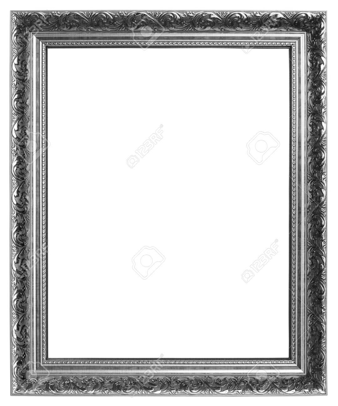 Silver frame on white background - 20670892