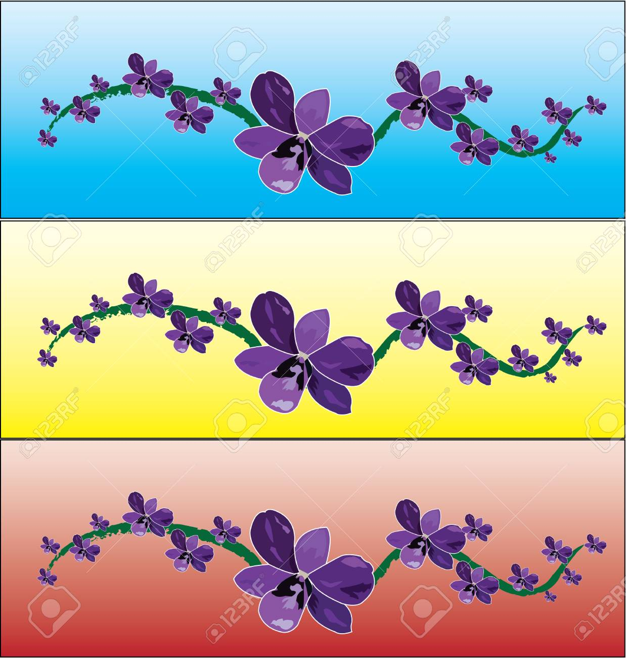 orchid in background Stock Vector - 8438054