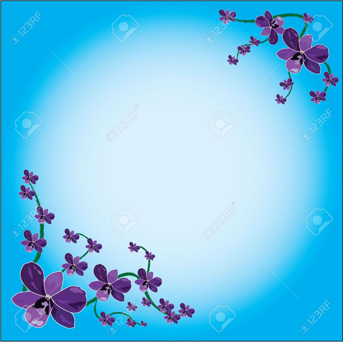 orchid in background frame Stock Vector - 8438053