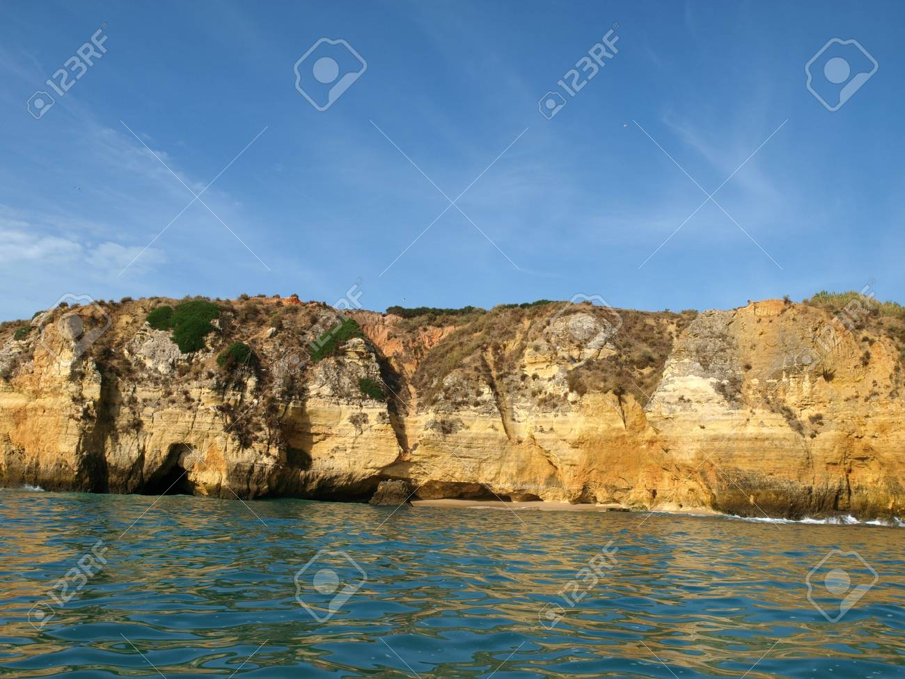 Picturesque Alagarve coast between Lagos and the Cap Vincent Stock Photo - 8307553