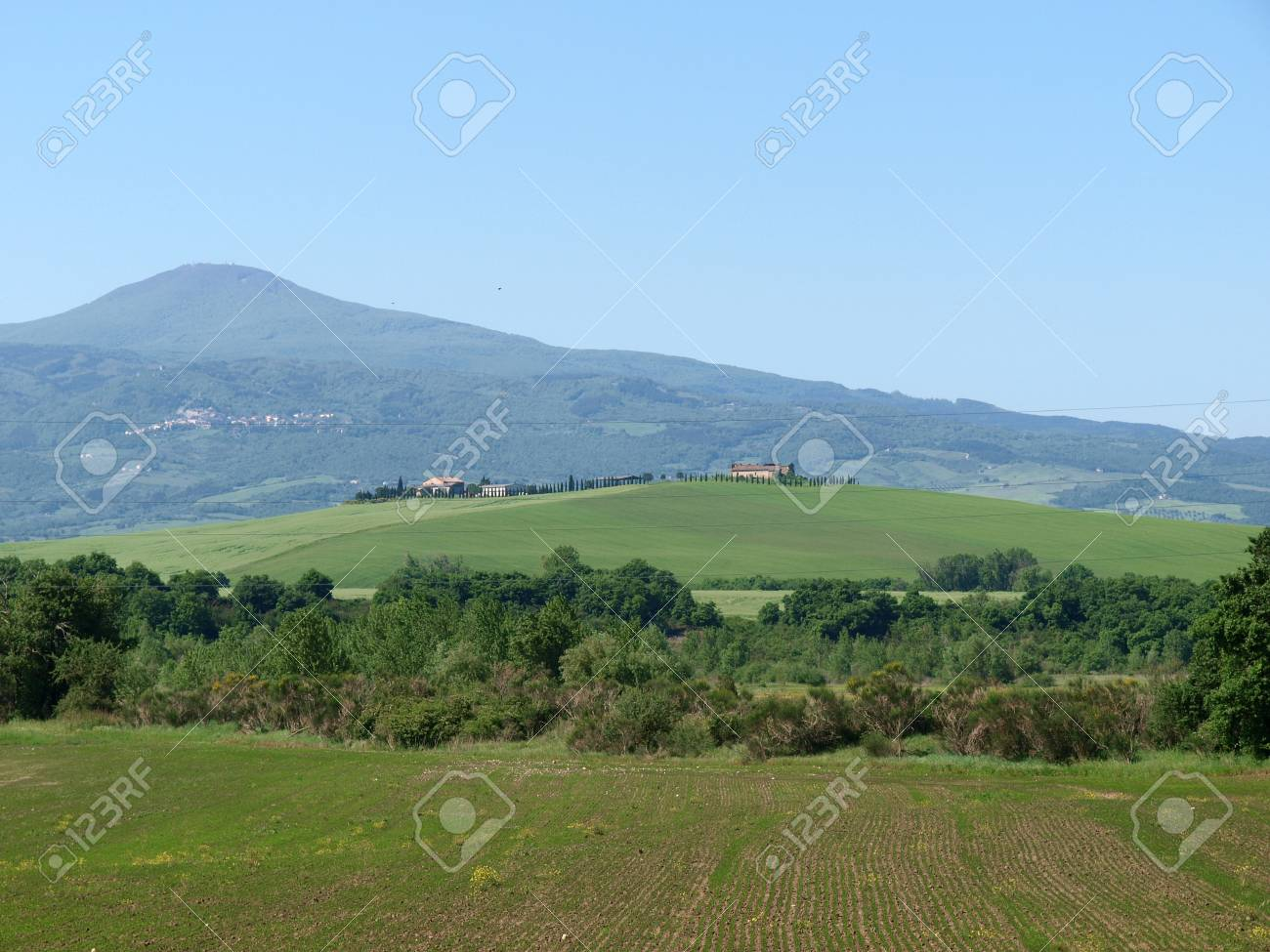 The landscape of the Val d'Orcia. Tuscany. Italiy Stock Photo - 12336072
