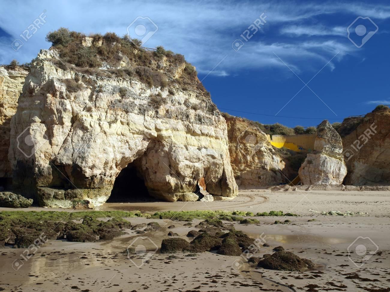 Algarve coast at low tide the ocean Stock Photo - 12613928