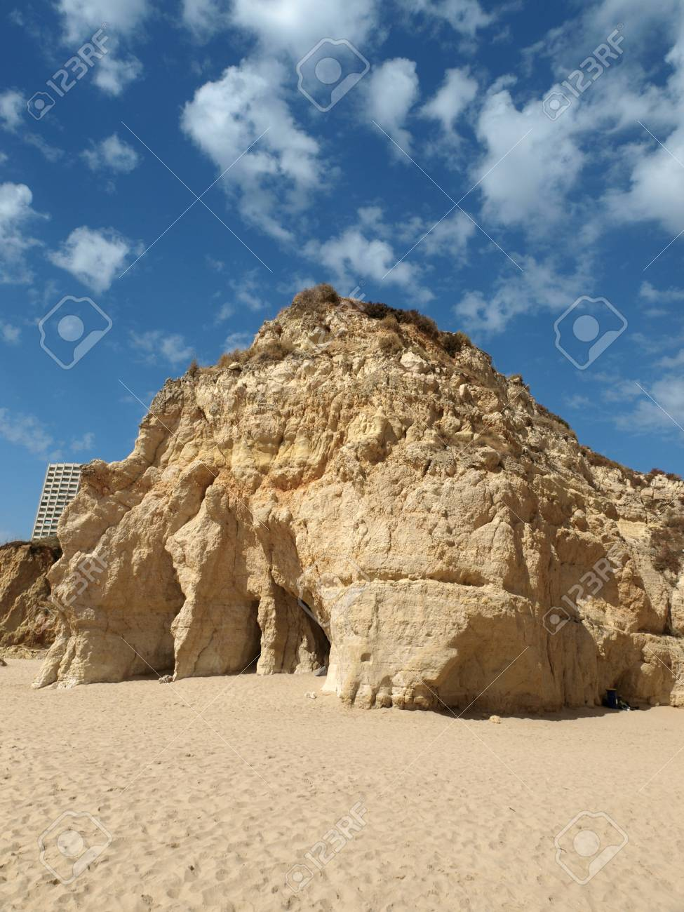 Colorful rock cliffs of the Algarve in Portugal Stock Photo - 12774342