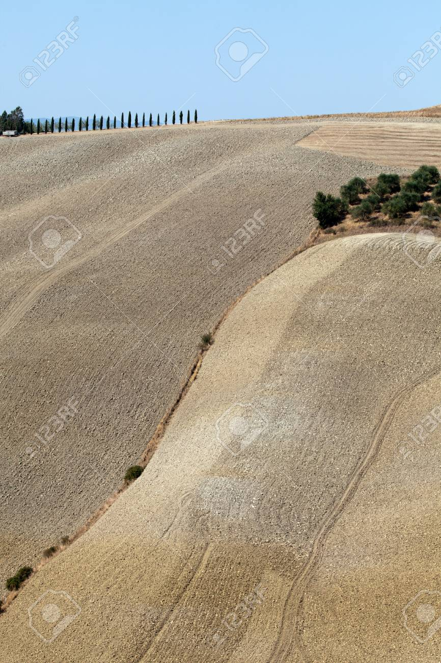 Crete Senesi - The landscape of the  Tuscany. Italy Stock Photo - 15184082
