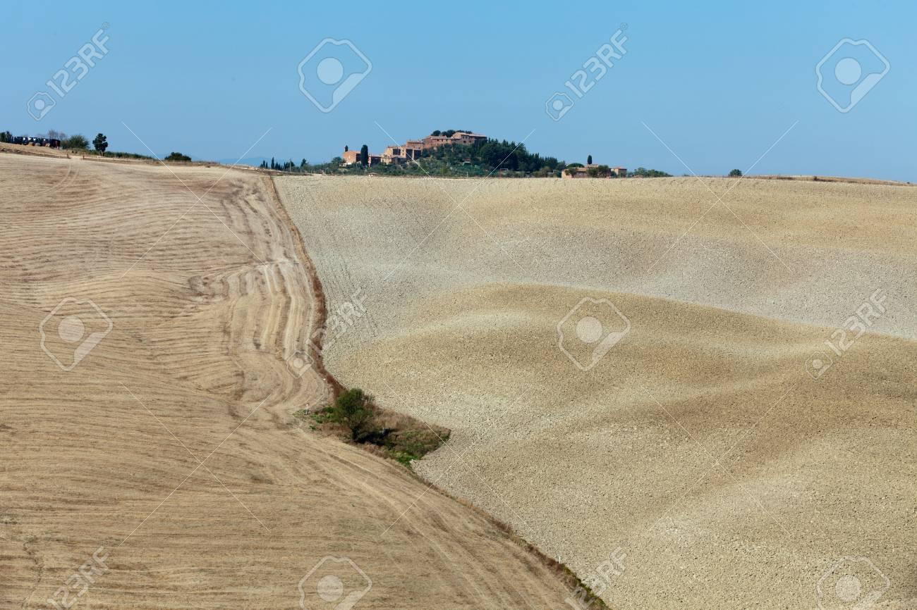 Crete Senesi - The landscape of the  Tuscany. Italy Stock Photo - 15482198