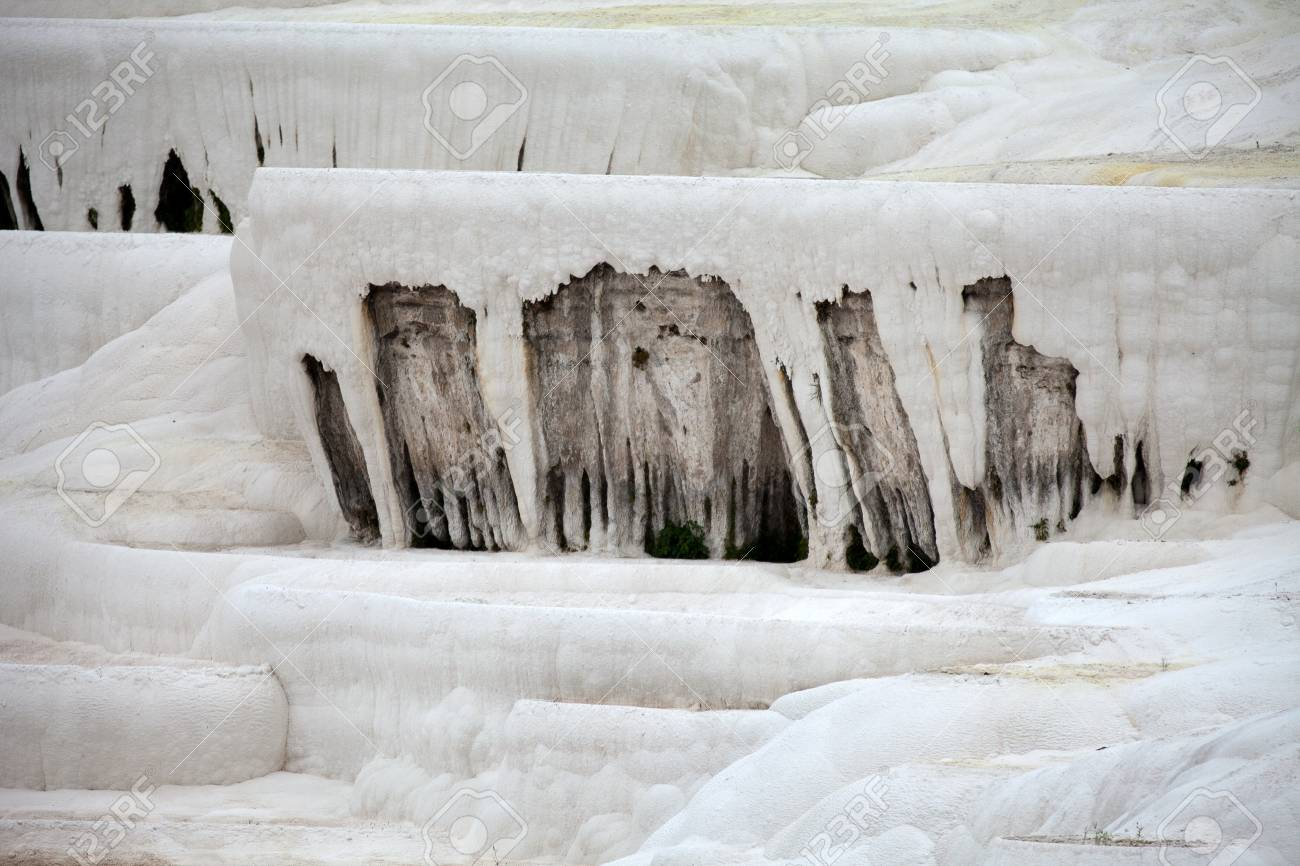 Travertine pools and terraces in Pamukkale Turkey Stock Photo - 16813367