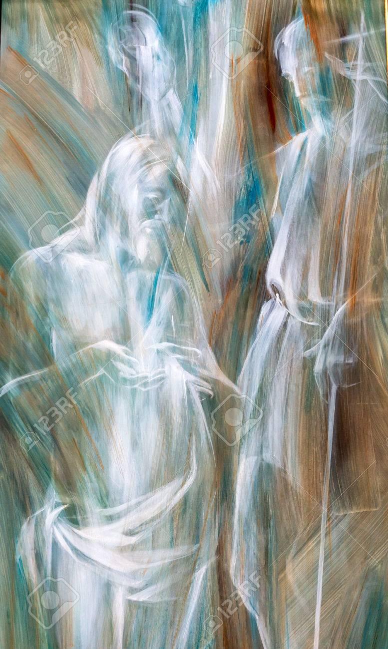 Novaarte Acryl Gemalde Original Abstrakte Kunst Landschaft Gebirge