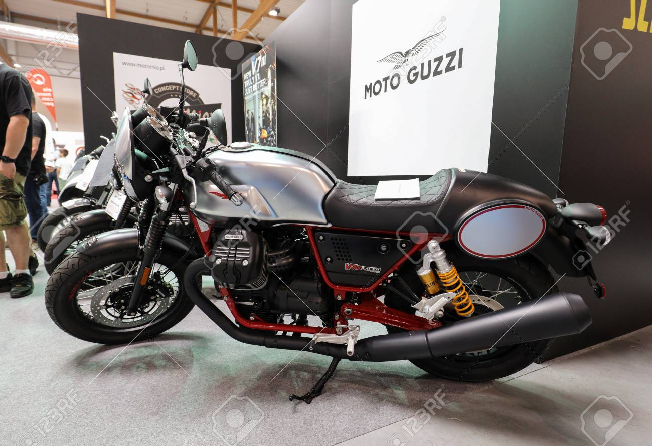 Cracow Poland May 20 2017 Moto Guzzi V7 Iii Racer Motorcycle